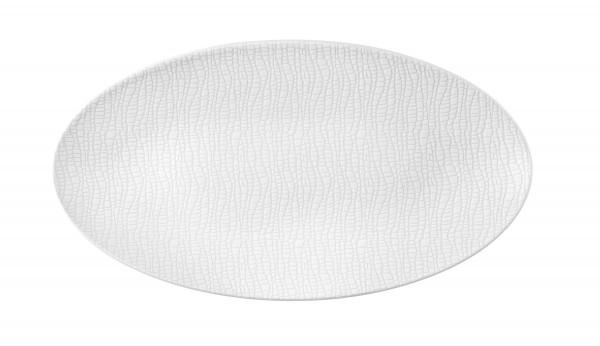 L Fashion luxury white Servierplatte oval 33x18 cm