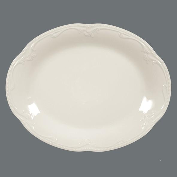 Platte, oval, 31cm, Rubin cream Uni