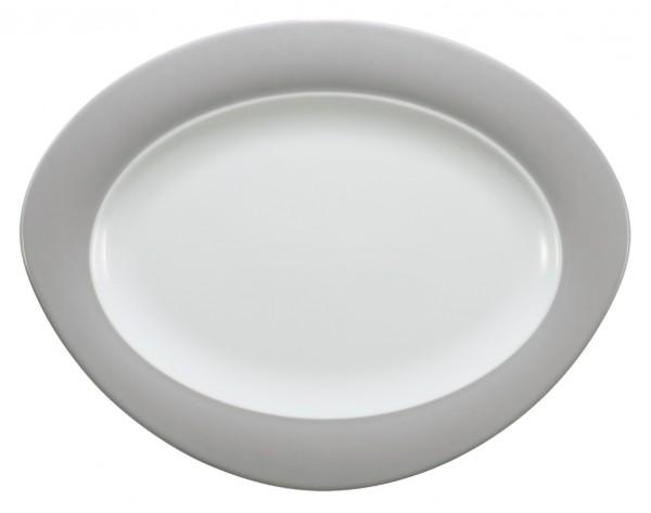Platte oval, 35cm, Trio steingrau