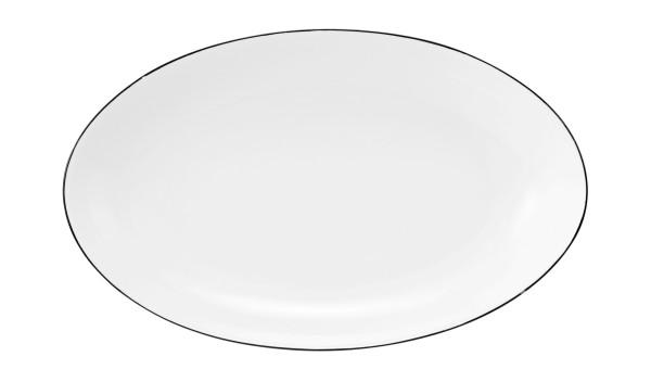Classique Noir Servierplatte oval 24x14,5cm