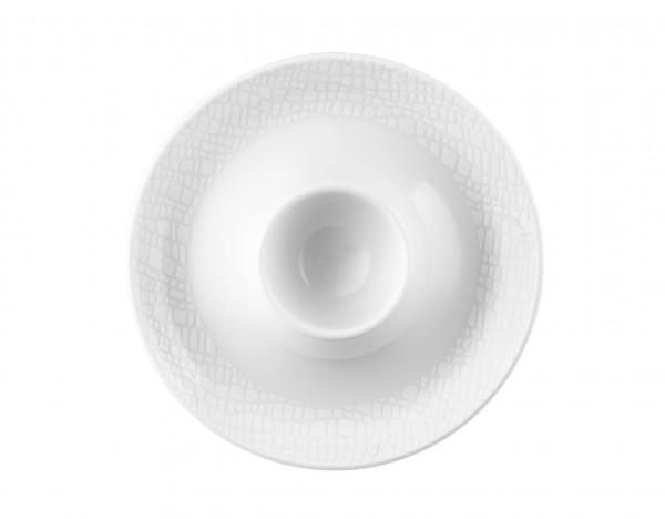 L Fashion luxury white Eierbecher mit Ablage