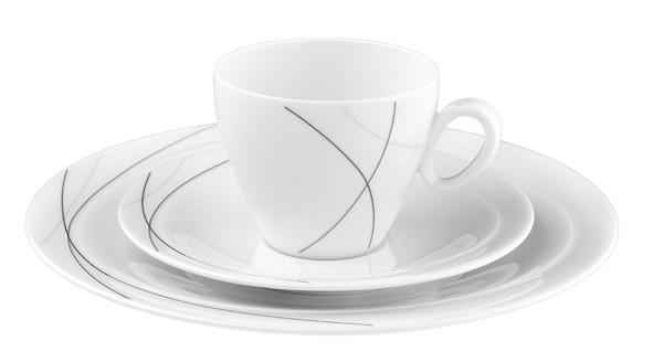 Kaffee-Gedeck 3tlg. Trio Highline