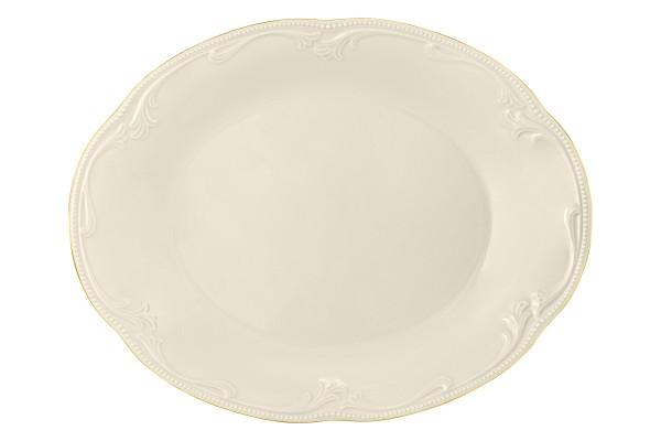 Rubin cream Goldrand Servierplatte oval 31,5x24,5cm