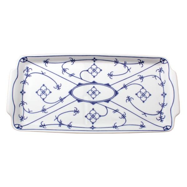 Königskuchenplatte 32x17cm Indischblau