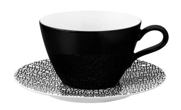 L Fashion glamorous black Milchkaffeeobertasse 0,37l