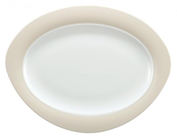 Platte oval, 35cm, Trio vanille