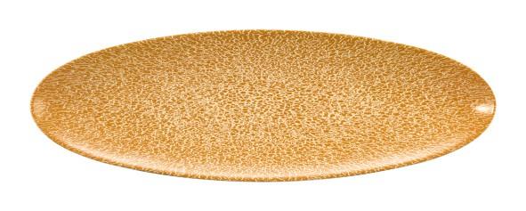 Life Molecule Amber Gold Servierplatte schmal oval 35x12cm