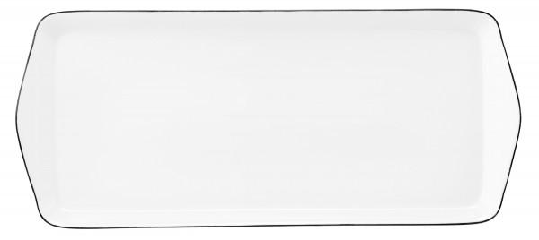 Classique Noir Kuchenplatte eckig 35,5x15,5cm
