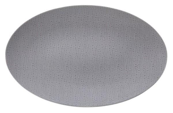 L Fashion elgant grey Servierplatte oval 40x26 cm