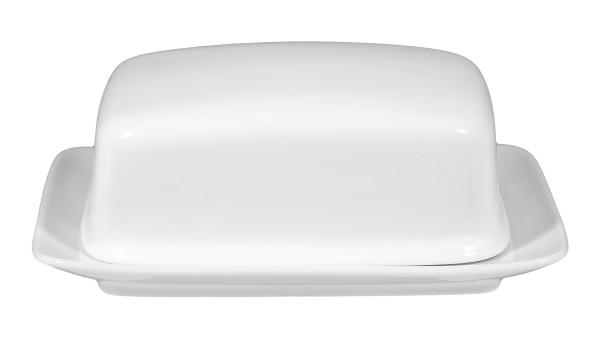 Rondo/Liane weiß Butterdose 1/2 Pfd
