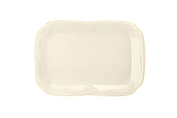 Rubin cream Goldrand Butterplatte 20,5x14,5 cm