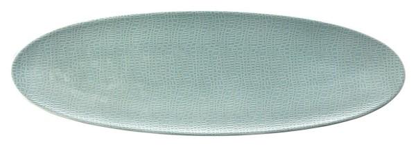 L Fashion green chic Servierplatte schmal 44x14 cm