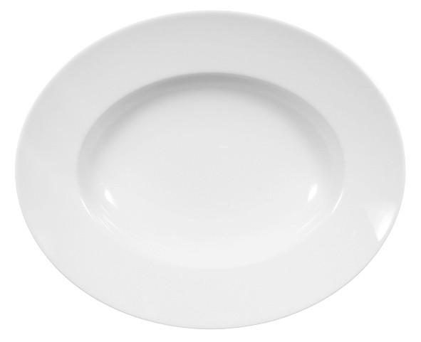 Lukullus Weiß Pastateller oval 32x26cm