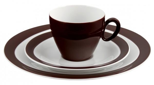 Kaffeegedeck 3- teilig, Trio zartbitter