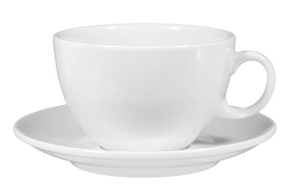 VIPweiß Milchkaffeetasse+Untertasse