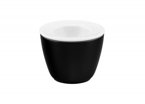 L Fashion glamorous black Snack & Egg 2tlg.