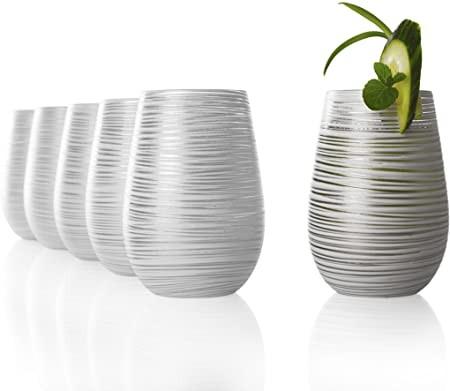 Twister Becher Weiß-Silber 6er Set