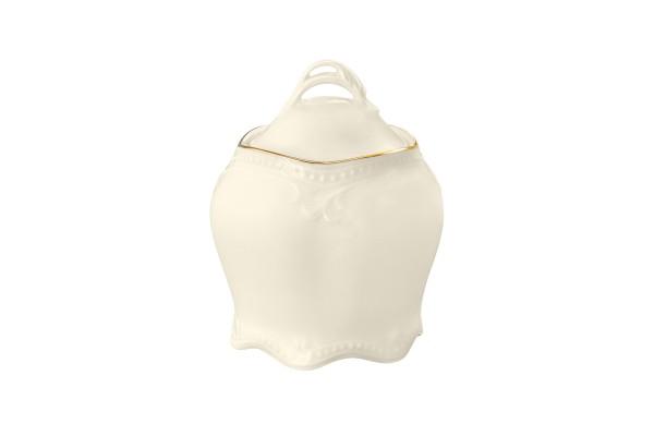 Rubin cream Goldrand Zuckerdose 0,12l