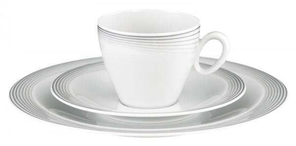 Kaffee-Gedeck 3tlg. Trio Nero