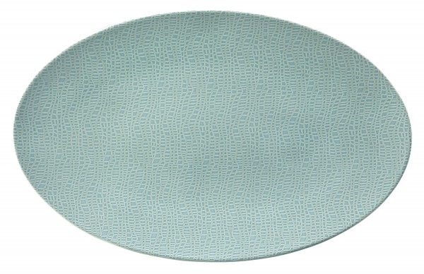 L Fashion green chic Servierplatte oval 40x26cm