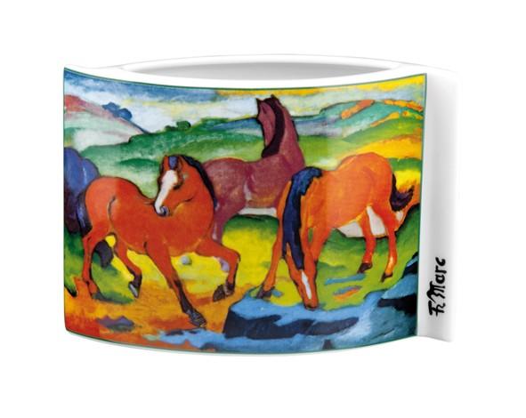 Rote Pferde