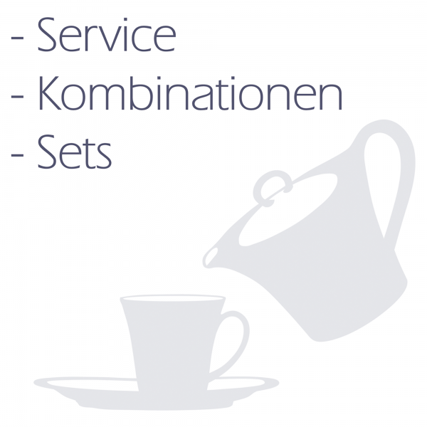 Kaffeeservice 20-tlg. 2 Saphir Diamant Geranienbl. 4160
