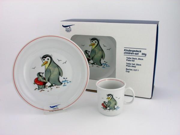 Zoo&Co Kindergedeck 3tlg. Pinguin