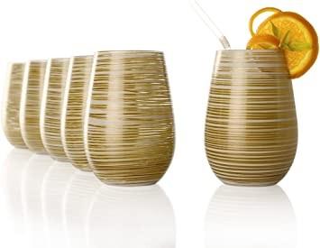 Twister Becher Weiß-Gold 6er Set