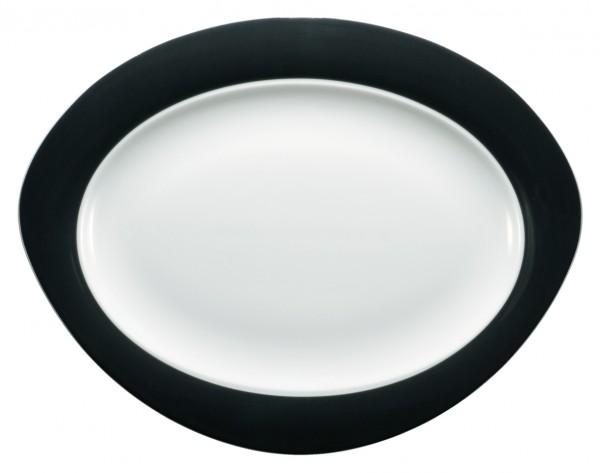 Platte oval, 31cm, Trio schwarz