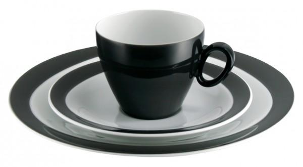 Kaffeegedeck 3- teilig, Trio schwarz