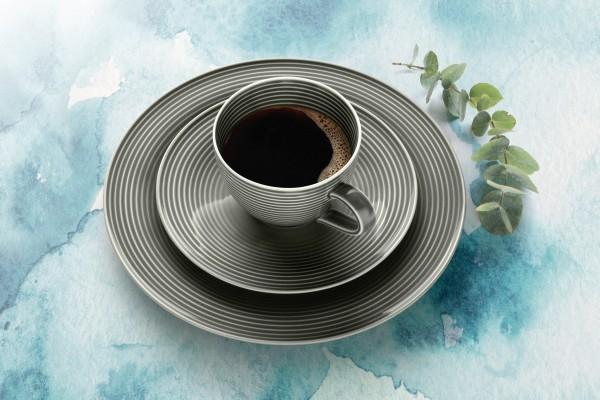 Beat Perlgrau Kaffee Service 18-tlg.