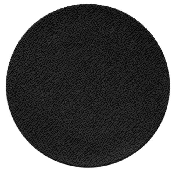 L Fashion glamorous black Servierplatte rund 33cm