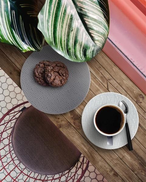 L Fashion elegant grey Kaffeegedeck 3tlg.