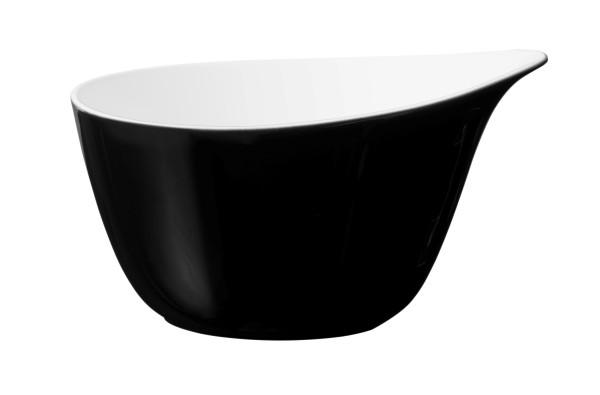 L Fashion glamorous black Müslischale mit Griff 0,60l