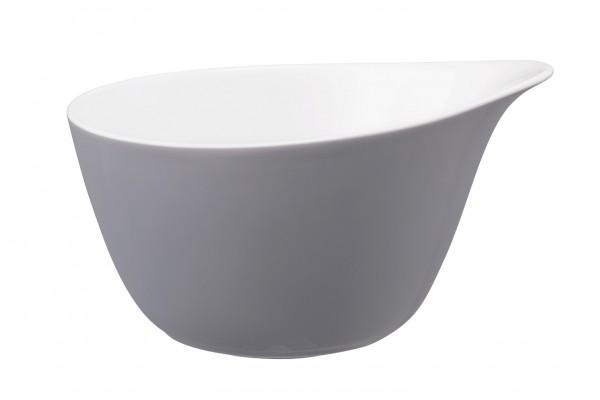 L Fashion elegant grey Müslischale mit Griff 0,60l