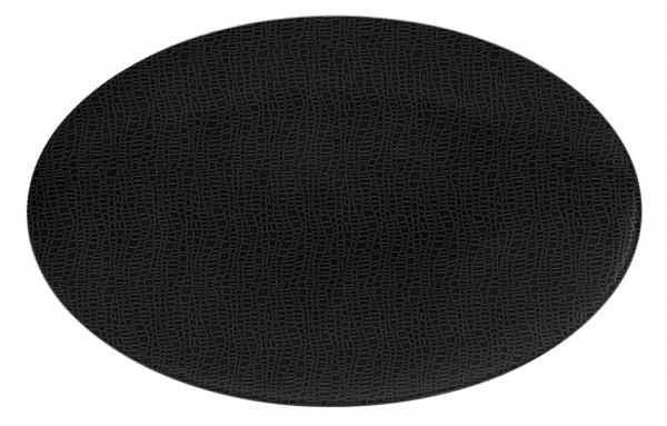 L Fashion glamorous black Servierplatte oval 40x26cm
