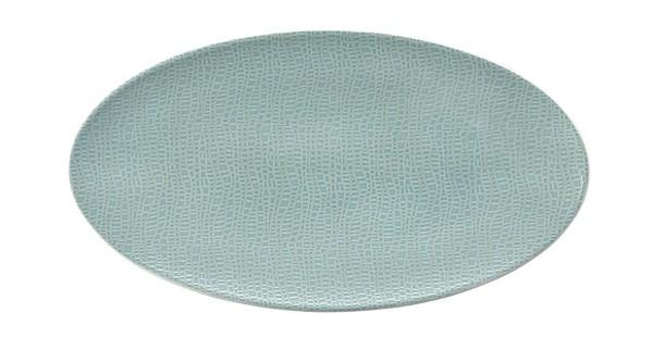 L Fashion green chic Servierplatte oval 33x18 cm
