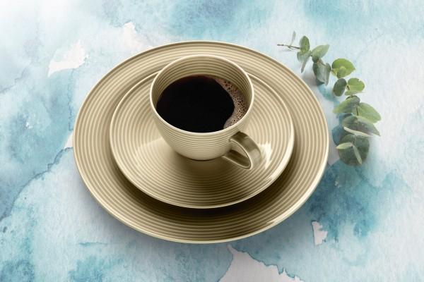 Beat Sandbeige Kaffee Service 18-tlg.