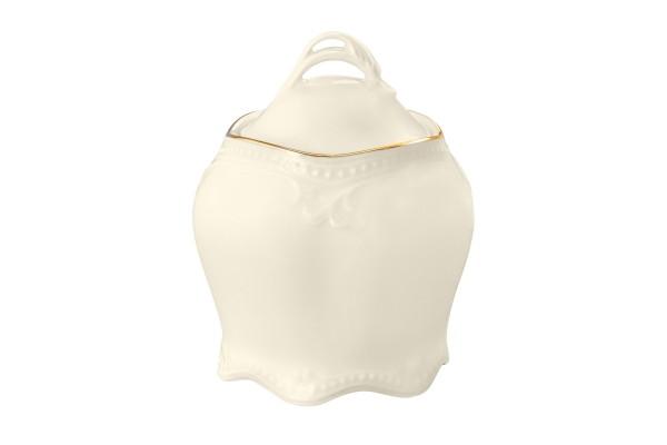 Rubin cream Goldrand Zuckerdose 0,22l