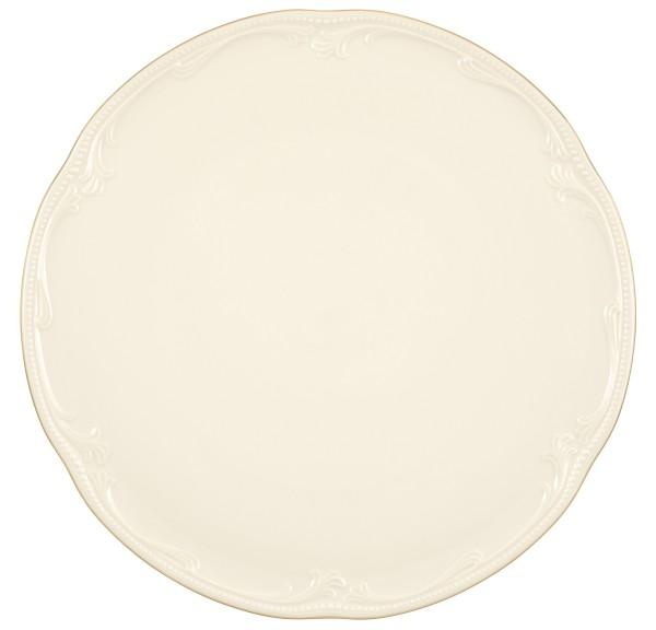 Rubin cream Goldrand Tortenplatte 32 cm