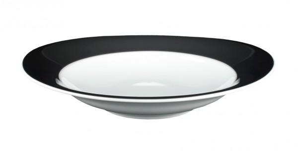 Suppenteller 23cm Trio schwarz