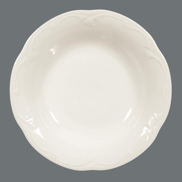 Suppenteller, 23cm, Rubin cream Uni