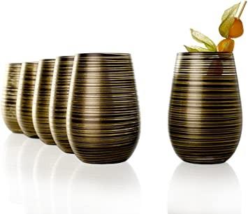 Twister Becher Schwarz-Gold 6er Set