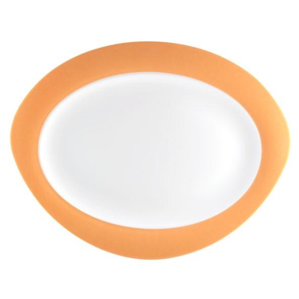 Platte oval, 31cm, Trio orange