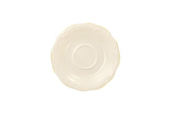Rubin cream Goldrand Tee-Untere 13cm
