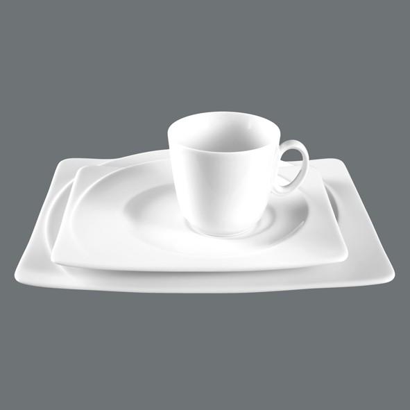 Kaffee-Gedeck 3tlg. Paso Uni, eckig