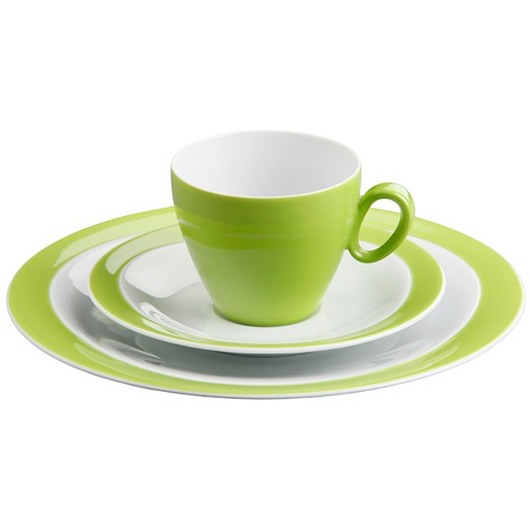Kaffeegedeck 3- teilig, Trio apfelgrün
