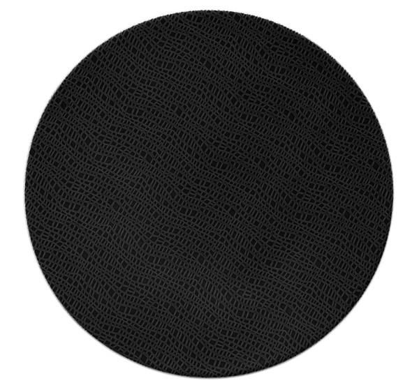L Fashion glamorous black Speiseteller rund 28cm