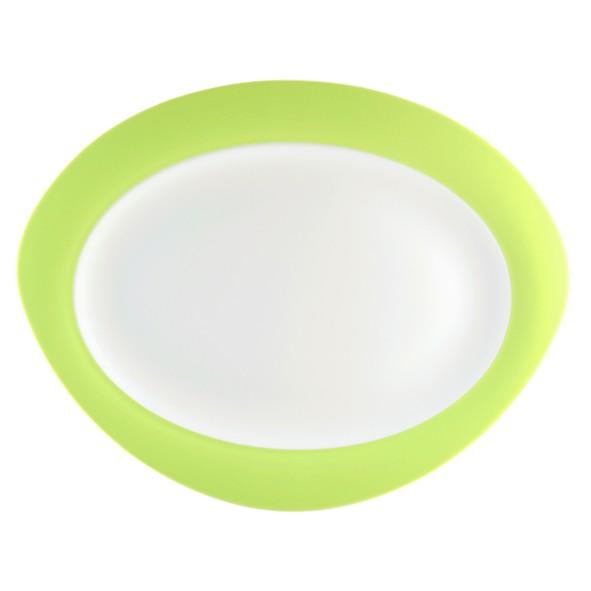 Platte oval, 35cm, Trio apfelgrün