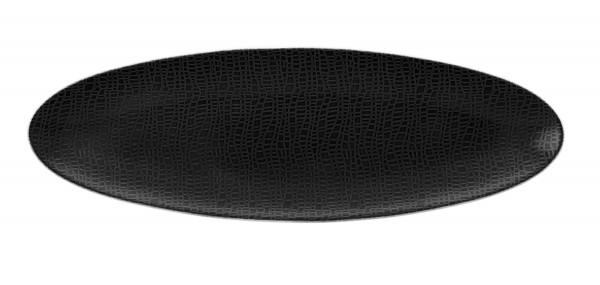 L Fashion glamorous black Servierplatte oval 35x12cm